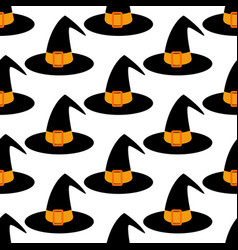 witch hat pattern vector image vector image