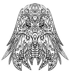 Zentangle stylized eagle head vector image vector image