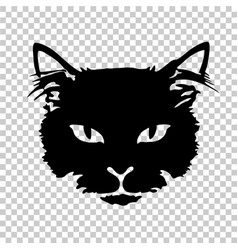 black cat silhouette tattoo vector image vector image
