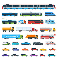 car icons set 2 vector image vector image