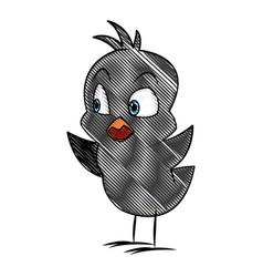 cartoon little chicken bird farm animal image vector image vector image