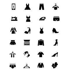Fashion Icons 3 vector image