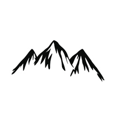 Mountain icon simple style vector image vector image