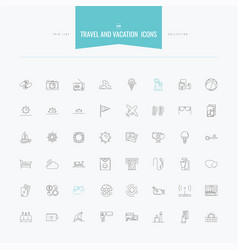 travel vacation tourism island and more thin vector image