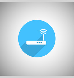 wireless signal router icon wi fi router flat ico vector image vector image