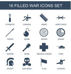 16 war icons vector