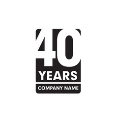 40th year anniversary emblem logo design vector