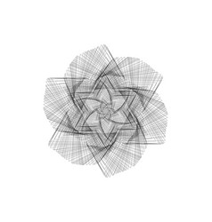 abstract geometric shapesflower vector image