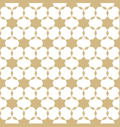 Abstract gold and white geometric seamless pattern vector