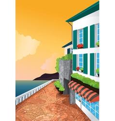 Apartment corner view vector