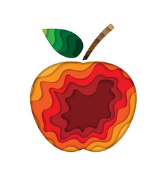 apple paper silhouette vector image