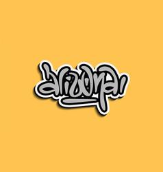 Arizona usa hand lettering sticker design vector