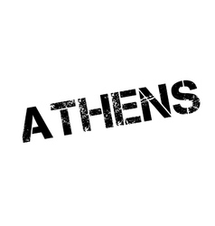 Athens rubber stamp vector