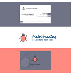 beautiful bug logo and business card vertical vector image