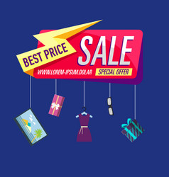 best price poster vector image