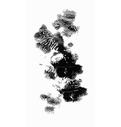 Black and white watercolor abstract blots vector image