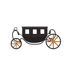 Black vintage brougham carriage vector