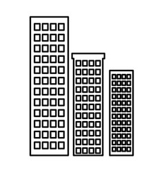 Buildings cityscape isolated icon vector