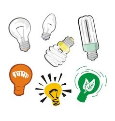 Bulbs set vector image