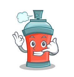 call me aerosol spray can character cartoon vector image