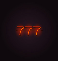 casino 777 neon signboard vector image
