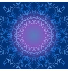 Circular ornament in blue tones vector