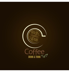 Coffee cup concept menu design vector