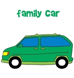 Collection style of family car vector
