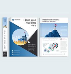 Cover book design template vector