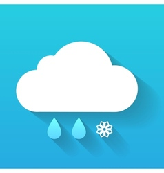Day cloud snow flake and rain drops isolated on vector