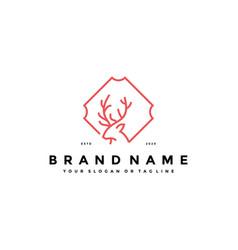 Deer logo icon design template vector