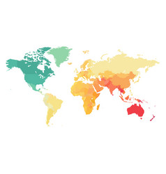 detailed colorful map world vector image