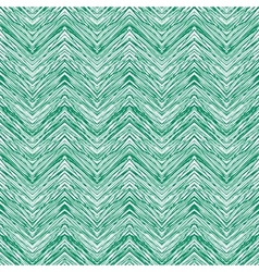Emerald green hand drawn zigzag pattern vector image
