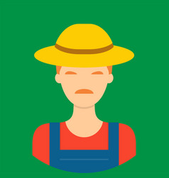 farmer characte icon great of character use for vector image