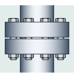 Flange connection vector image