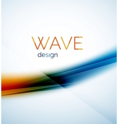 Flowing wave of blending colors vector image