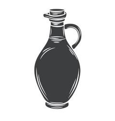 glass bottle jug glyph icon vector image