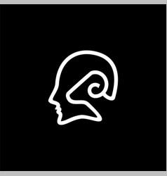 Goat man outline icon logo vector
