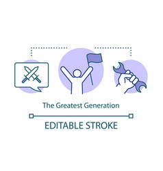 greatest generation concept icon demographic vector image