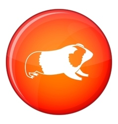 Hamster icon flat style vector