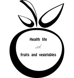 Health life vector image