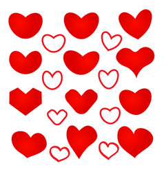 Heart shaped pattern on white background vector