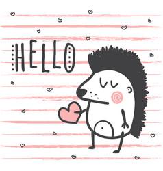 hello hedgehog vector image