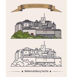Hohensalzburg old castle in Austria Salzburg vector