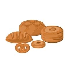 Isolated bread and pretzel design vector