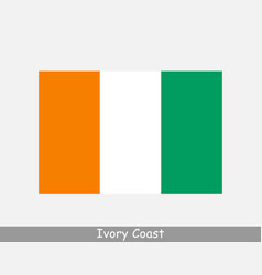 Ivory coast cote d ivoire national country flag vector