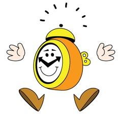 Jumping alarm clock vector