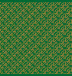 Korean traditional yellow green flower pattern vector