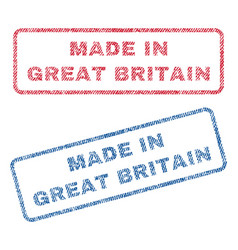 Made in great britain textile stamps vector