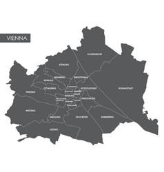 Map vienna district vector